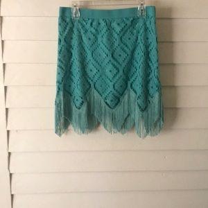 Wrangler fringe lace skirt Size Medium
